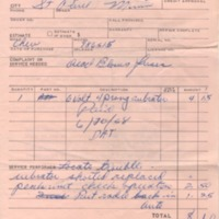 Automobile repair receipt