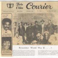 Article about WWII from Twin Cities Courier